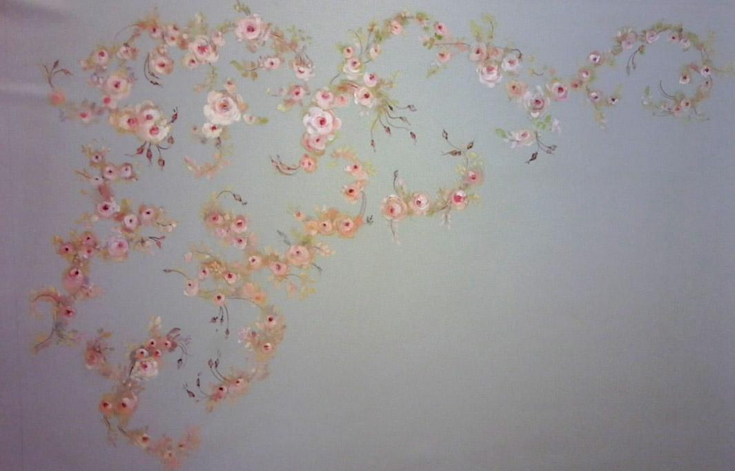 Collage et marouflage de la toile.