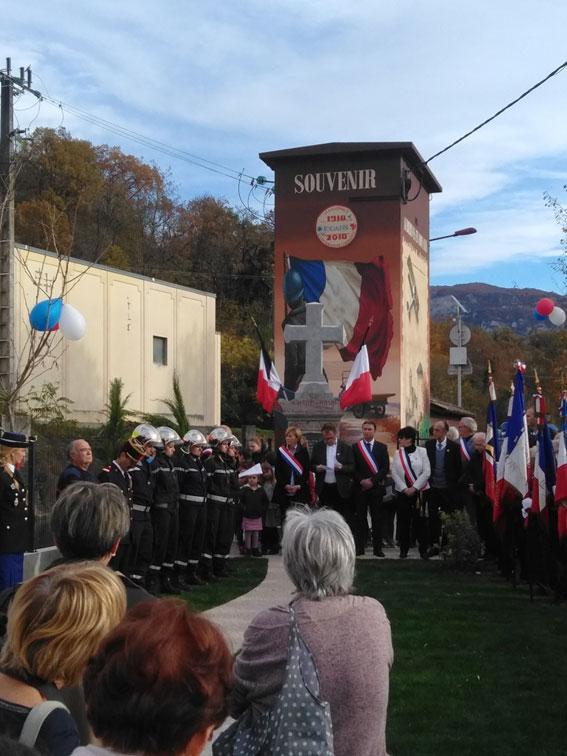 Inauguration de la fresque et commémoration de l'armistice à l'occasion du 100 éme anniversaire